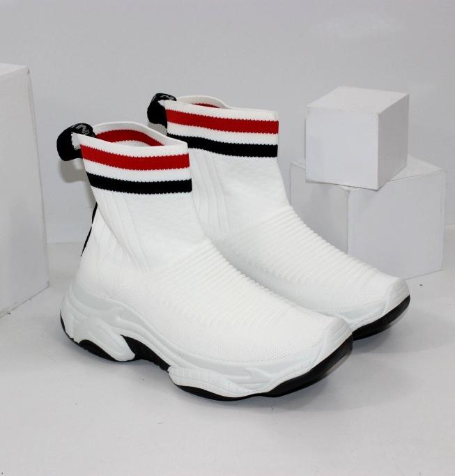 Білі кросівки шкарпетки для жінок