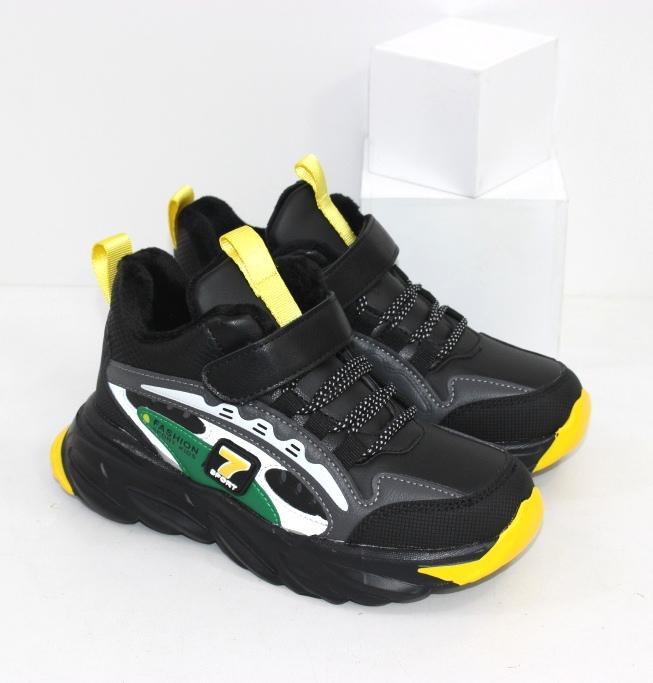 Зимние кроссовки на меху для мальчиков размеры 31 32 33 34 35 36