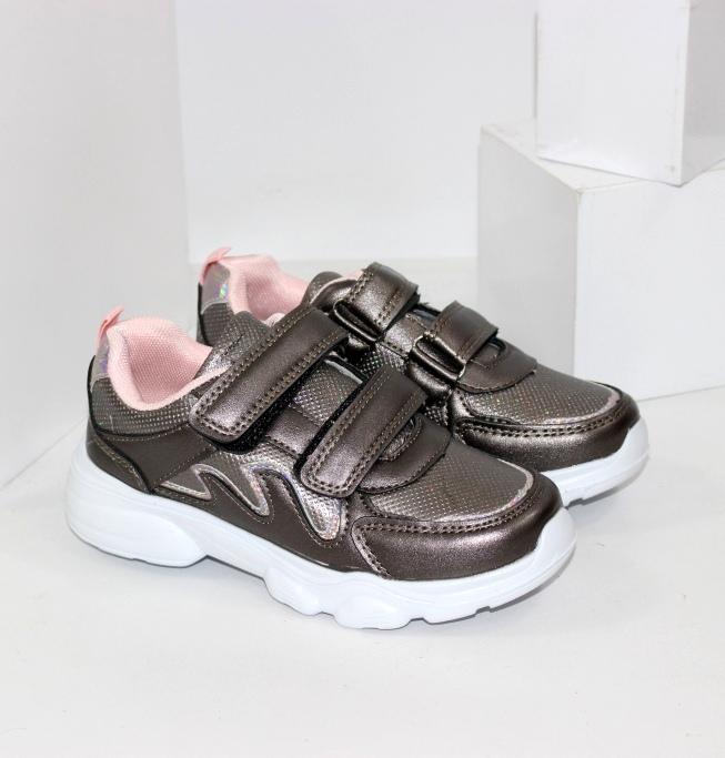 Дівчачі кросівки на двох липучках
