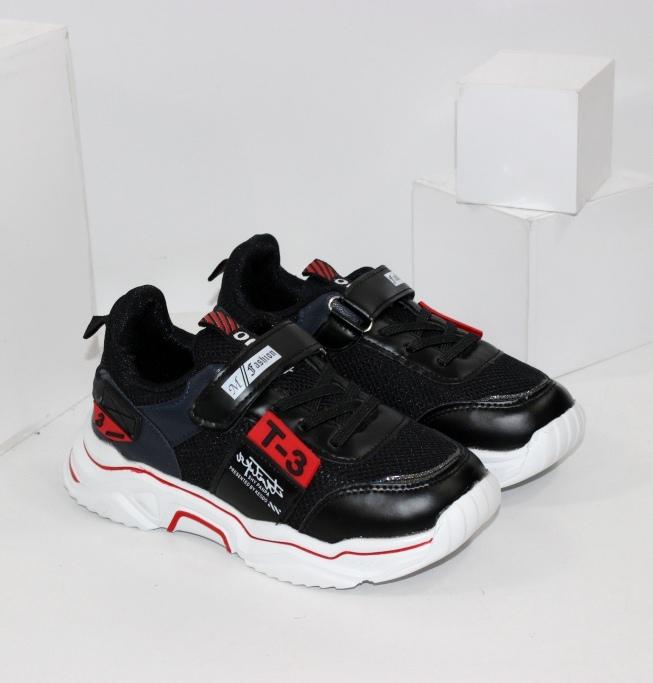 Чорні модні дитячі кросівки на весну