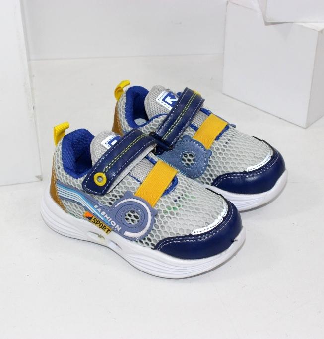 Легенькі літні кросівки для хлопчиків на липучці