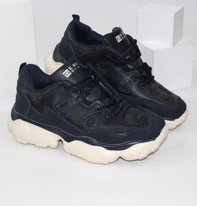 Подростковые кроссовки на объемной светлой подошве B1788-3 - купить недорого через интернет магазин
