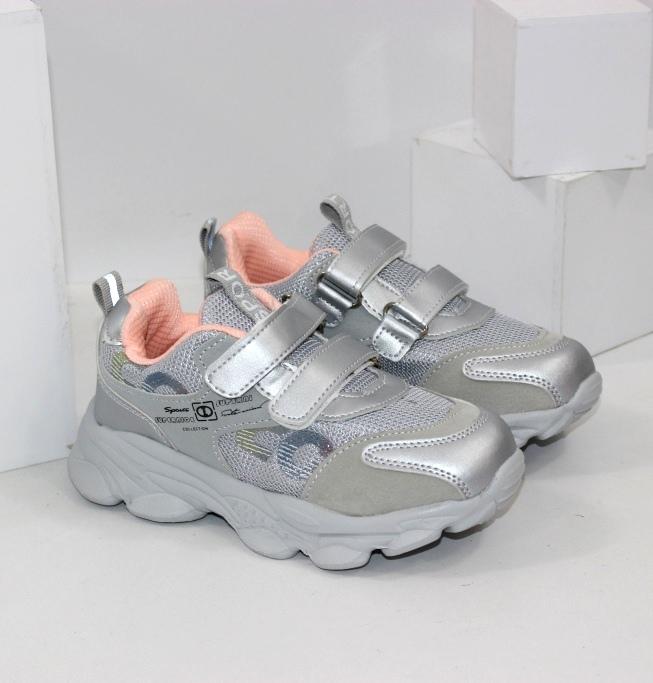 Практичні дитячі кросівки для дівчаток на 2 двох липучках