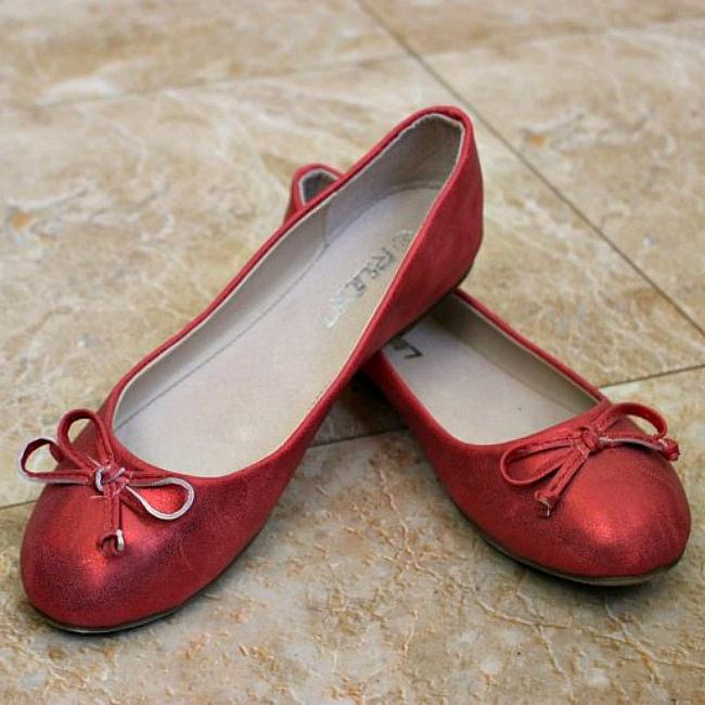 Купить балетки красные в интернет магазине Городок, обувь для всей семьи недорого