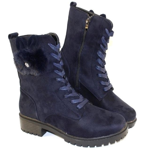 купить замшевые женские ботинки на низком каблуке в интернете