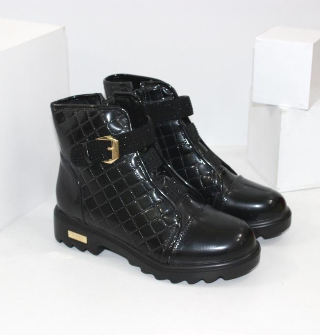 Лакові осінні черевики для дівчинки G36-20 - купити взуття в роздріб низькі ціни в інтернет магазині