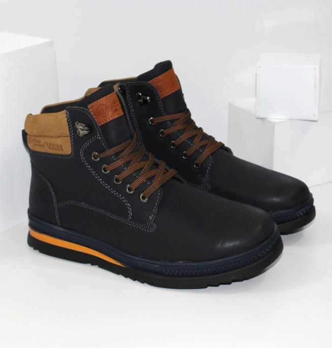 Міцні чоловічі зимові черевики на шнурках і блискавки і товстій підошві