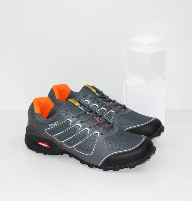 Купить качественные мужские кроссовки в сером цвете известного бренда