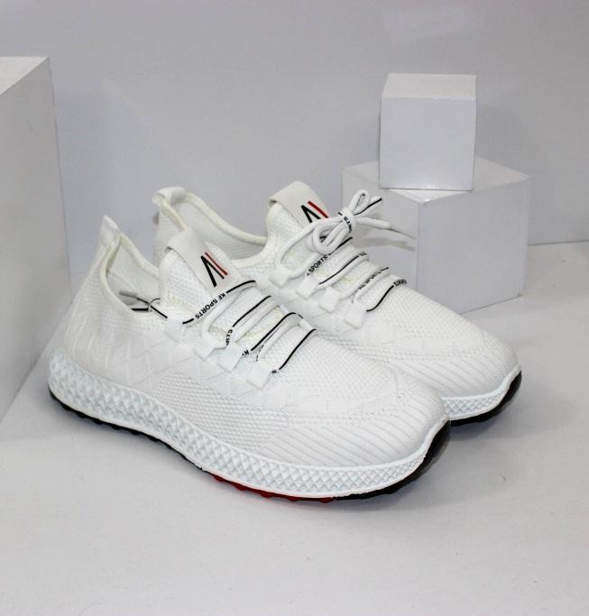 Белые стильные кроссовки купить в недорогом магазине онлайн Днепр
