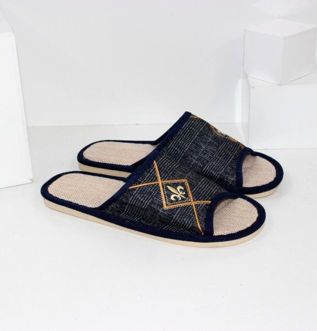 Купить домашние тапочки мужские A.shoes AB018-синие. Мужчинам - Городок