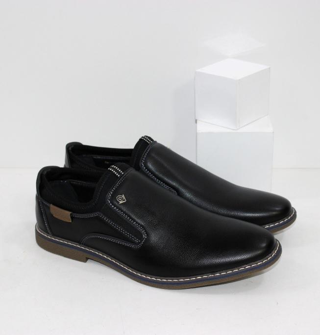 Удобные мужские туфли на текстильной резинке мягко облегающей щиколотку