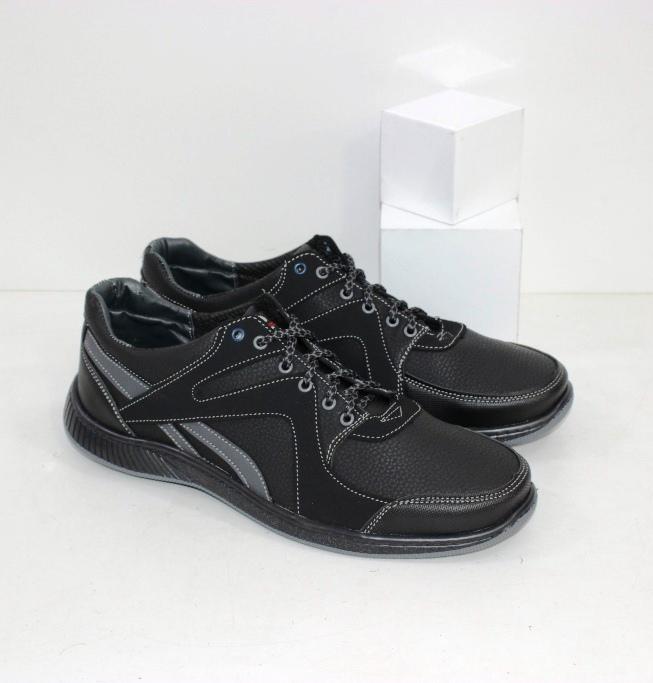 Крепкие мужские туфли производства Украина из искусственных материалов