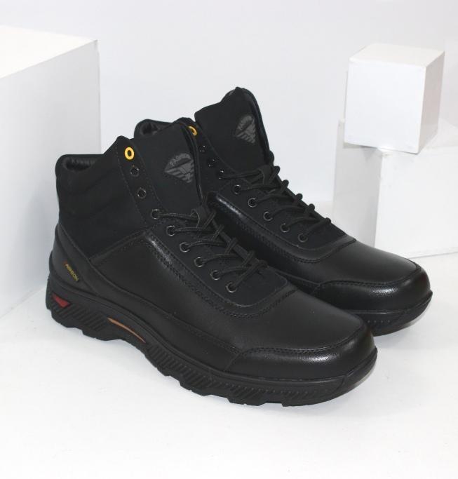 Мужские зимние ботинки на шнурках и молнии