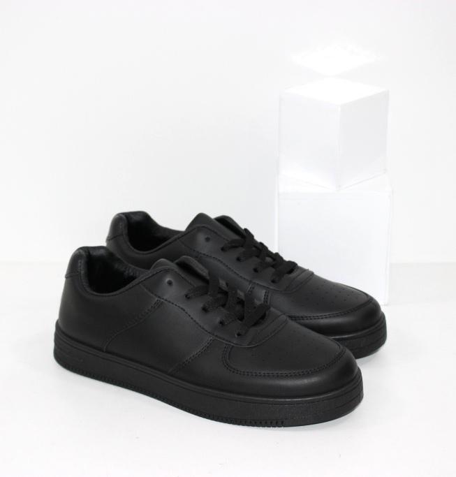 Купить чёрные кроссовки на плоской подошве для мальчиков подростков размеры 36 37 38 39 40 41
