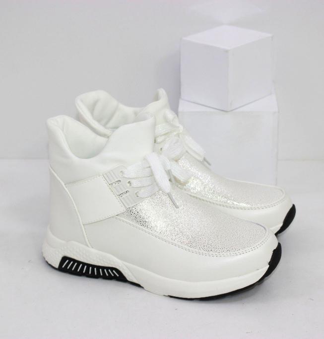 Белые ботинки спортивного стиля на девочку размеры 31 32 33 34 35 36
