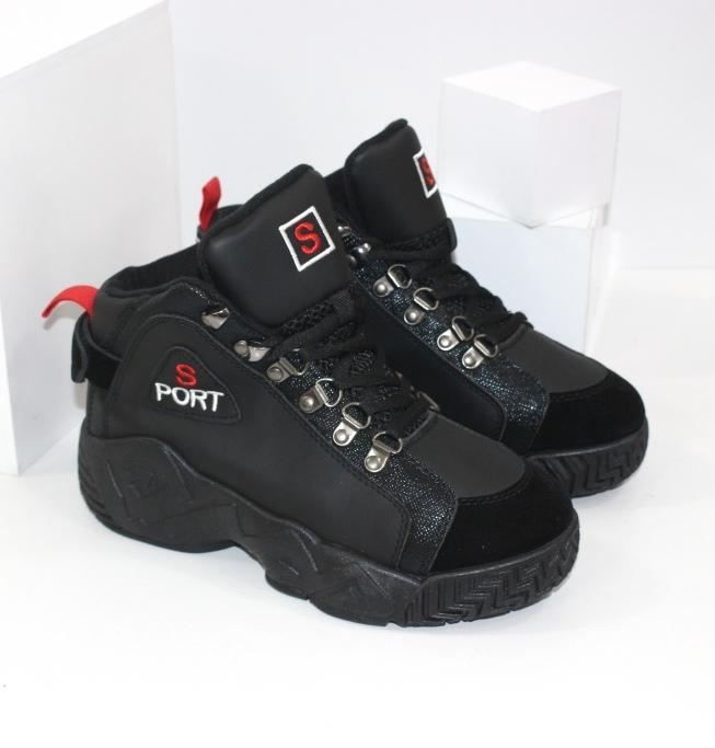 Черные высокие кроссовки для мальчиков и девочек подростков купить с доставкой на укрпочту
