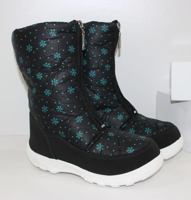Зимние дутики для девочек 081-2- купить теплая детская обувь дешево