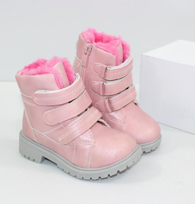 Зимові черевики для дівчаток рожеві