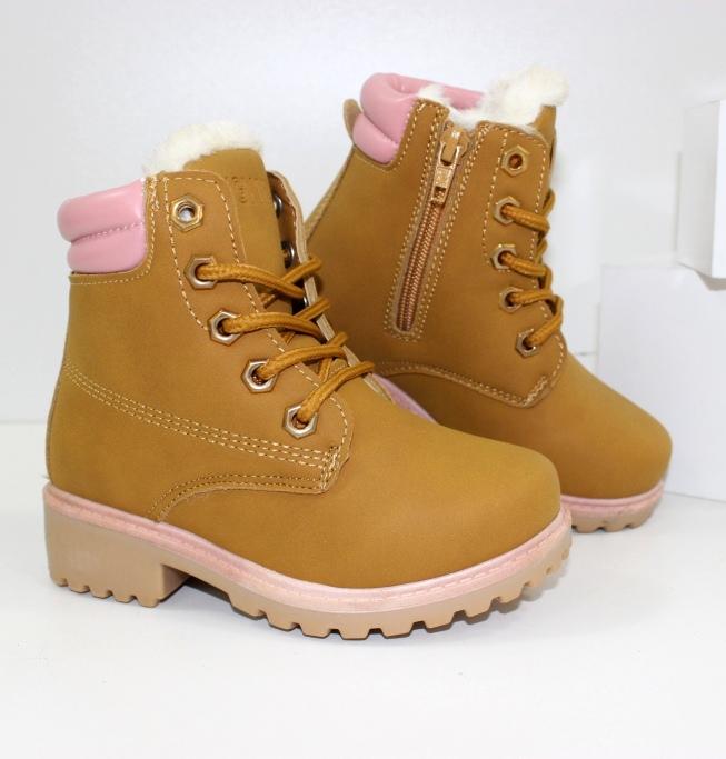 Зимние красивые ботинки B698 camel - купить модные детские ботинки через интернет магазин