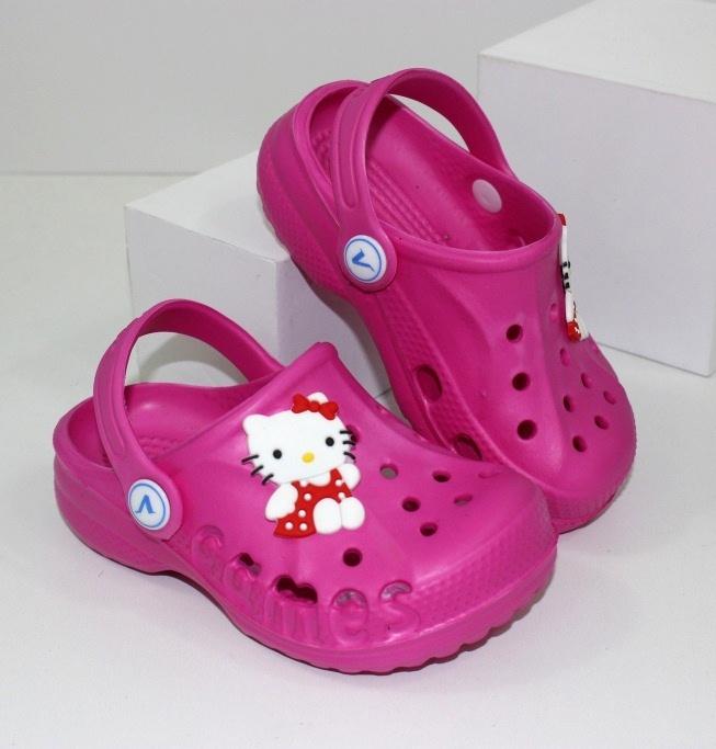 """Кроксы для девочки """"Китти"""" - купить недорого где есть распродажа детских сандалей"""