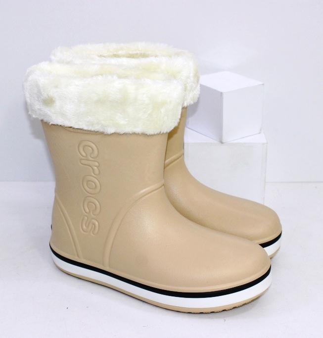 Купить сапоги кроксы с утеплителем