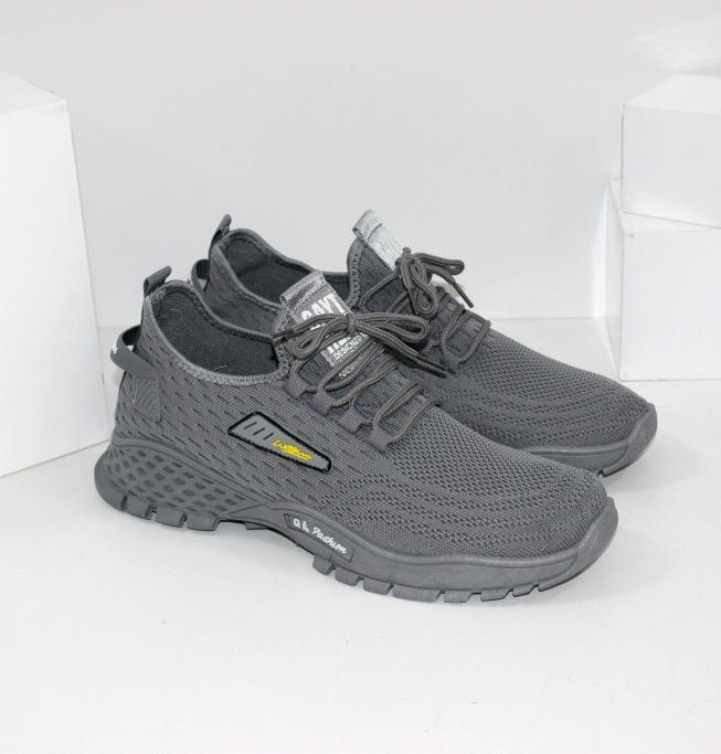 Серые текстильные кроссовки QL20-grey - купить недорого украина в интернет магазине