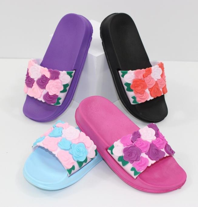 Красивые шлепанцы для девочки - сайт обуви Городок