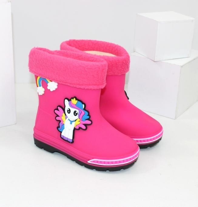 Нарядні гумові чоботи для дівчаток