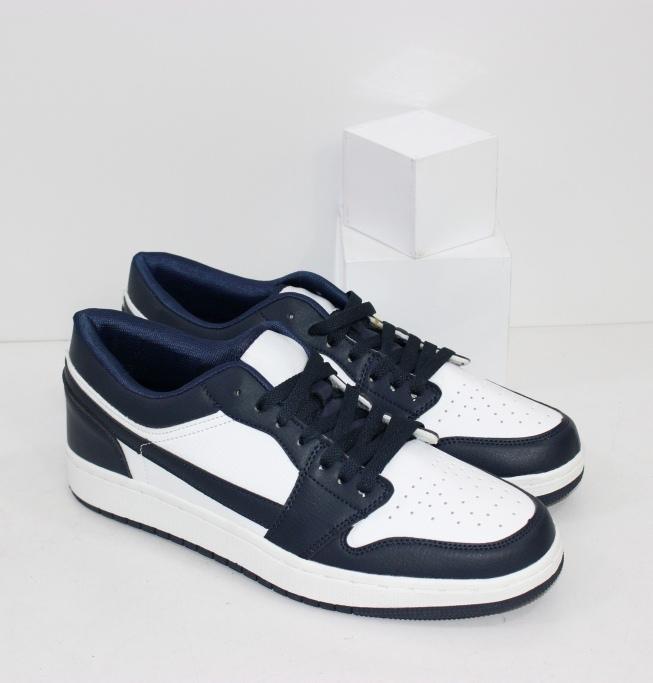 Бело синие мужские кроссовки удобные и качественные