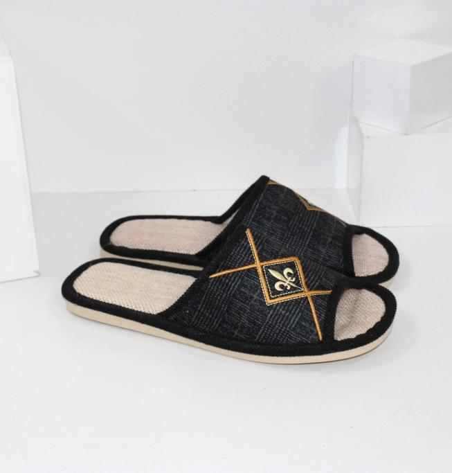 Купить домашние тапочки мужские A.shoes AB018-черные. Мужчинам - Городок