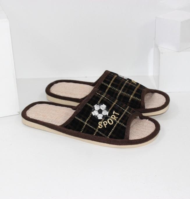 Купить домашние тапочки мужские A.shoes AB0183-коричн. Мужчинам - Городок