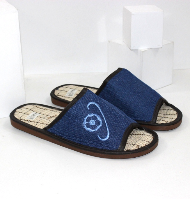 Тапочки весняні з відкритими пальцями для чоловіків сині