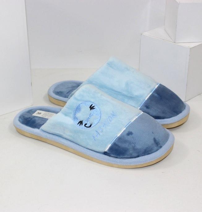 Тапочки жіночі Котики блакитні малинові сірі фіолетові