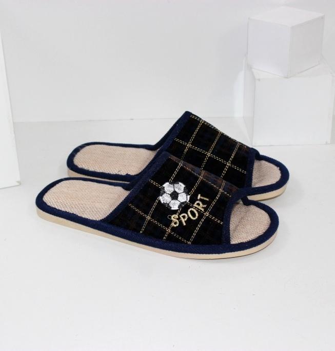 Купить домашние тапочки мужские A.shoes AB0183-синие. Мужчинам - Городок
