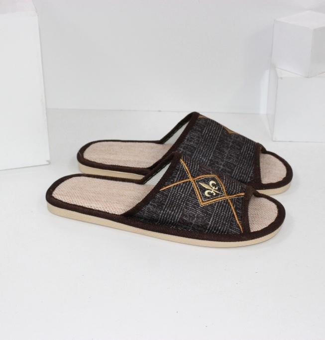 Купить домашние тапочки мужские A.shoes AB018-коричн. Мужчинам - Городок