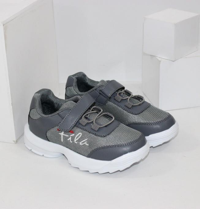 Сірі весняні кросівки для хлопчиків і дівчаток