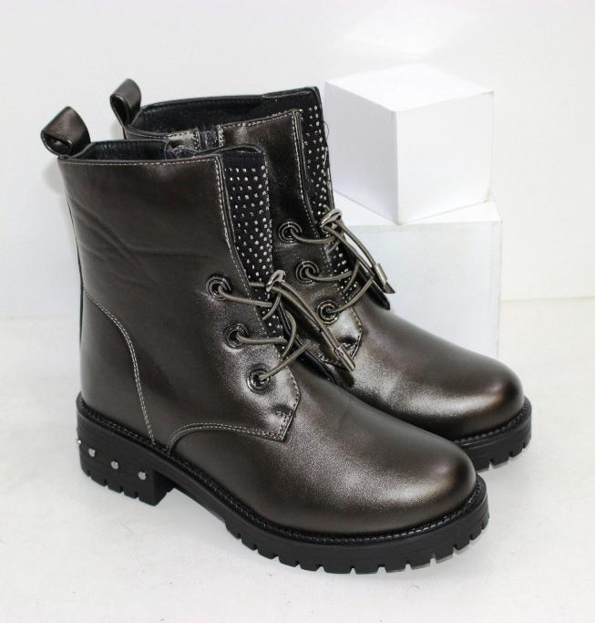 Зимние ботинки на девочку на шнурках и молнии размеры 31 32 33 34 35 36 37