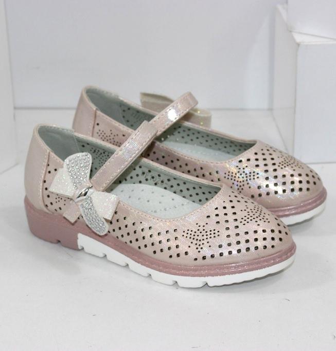 Туфлі для дівчаток світлі розміри 27 28 29 30 31 32
