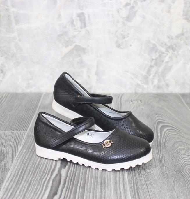 чёрные туфли девочке 16-6 -купить  для девочки обувь магазин