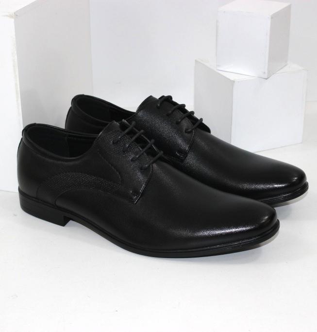 Класичні туфлі для чоловіків чорного кольору