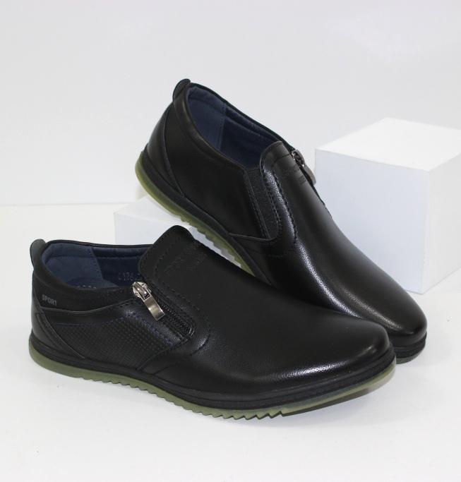 Удобные и практичные туфли для подростков G126-black - купить обувь для подростка в Украине