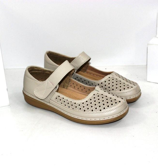 Бежеві літні туфлі для бабусь