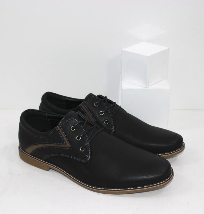 Удобные мужские туфли на шнурках и подошве из полиуретана