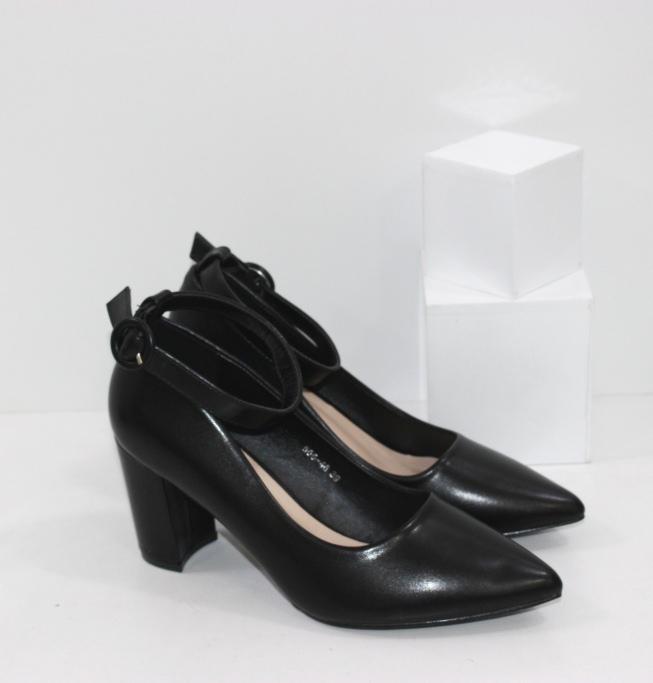 Купить туфли лодочки с острым носом с ремешком вокруг щиколотки