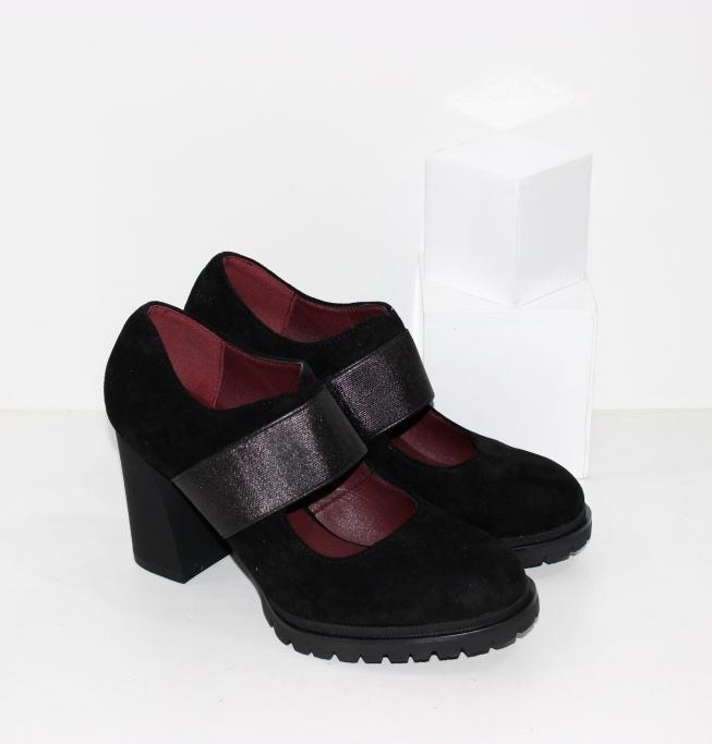 Купить недорого женские осенние туфли с резинкой на подъёме