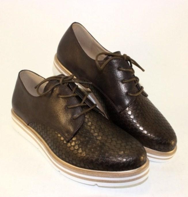 Туфлі жіночі комбіновані TL35 brown