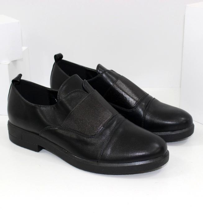 Туфлі оксфорди жіночі без шнурків з гумкою 545-177 - купити в інтернет магазині