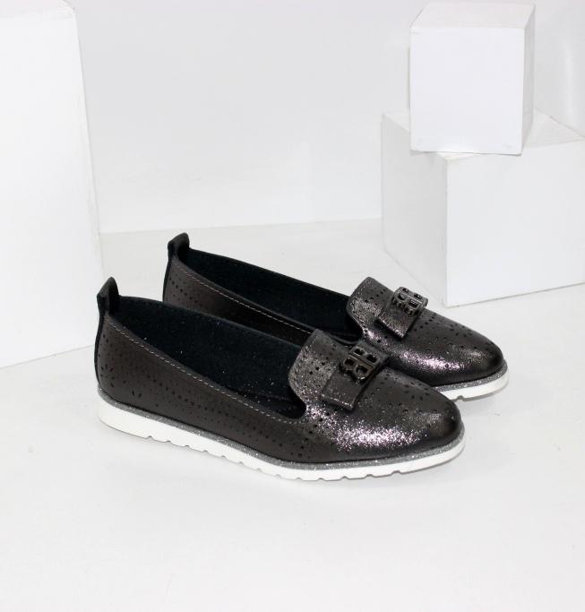 Темні дитячі весняні туфлі на дівчинку недорого