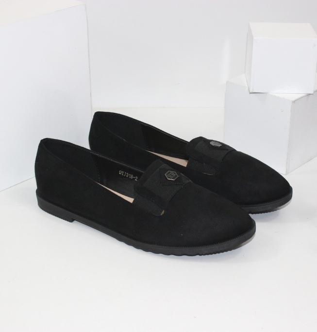 Туфли с каблуком 1 см замшевые женские  99YJ318-2 -  купить в интернет магазине
