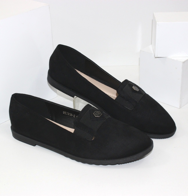 Туфлі жіночі замшеві великих розмірів 299YJ318D - купити в інтернет магазині